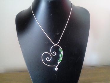 Heart shaped Pendant with chain