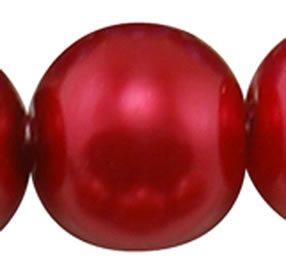 4mm Glass Pearl - Crimson Red