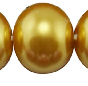 4mm Glass Pearl - Gold