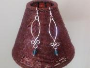 Fancy Matt blue drop Earrings