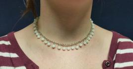 Moonstone White Glass Necklace