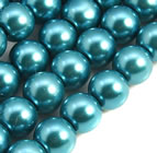 6mm Glass Pearl - Teal