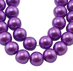 6mm Glass Pearl - Purple