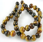 Round Tigers Eye Beads