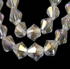 Bicone Beads - Clear